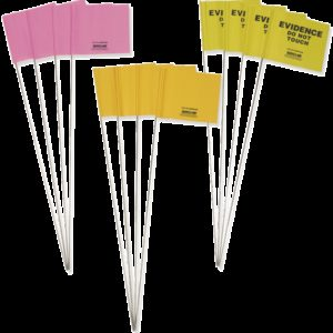 "Yellow ""Evidence""""Do Not Touch"" Preprinted Flags (EVFY100)"