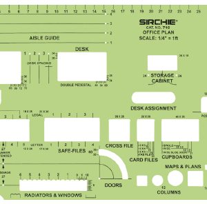 "Store Layout Template, 9.125"" x 5.0625"" (23.2cm x 12.9cm) (710)"