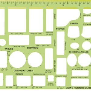"House Furnishings Template, 8.625"" x 5.5"" (21.9cm x 14cm) (714)"