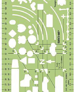 """Traffic Template 6.25"""" x 3.5"""" (15.9cm x 8.9cm) (TT1)"""