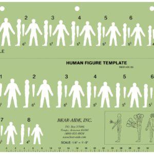"Human Figure Template, 11"" x 8.5"" (27.9cm x 21.6cm) (HFT1)"