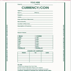 """Currency/Coin Bag, 9"""" x 12 (IEB3000)"""