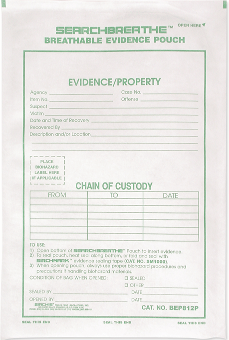 "Breathable Evidence Pouch, 10"" x 15"" (BEP1015P)"