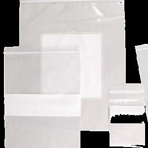 "Zip-top Write-Block Evidence Bags, 4"" x 6"" (ZWB01)"