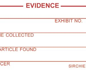 """Red/White Evidence ID, 3"""" x 1.5"""" (EIL01R)"""