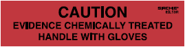 """Caution"" Chemically Treated Labels, 4"" x 1"" (EIL13R)"