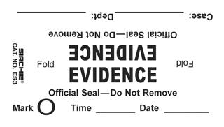 """""""Evidence"""" Bag Seals, 3.5"""" x 2"""" (ES3)"""