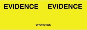 """EVIDENCE MARKING TAPE, Tape w/Dispenser, 1"""" x 500 ft. (803ED)"""