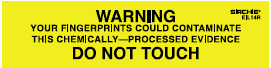 """""""Warning"""" Do Not Touch Labels, 4"""" x 1"""" (EIL14R)"""