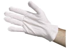 White Cotton Gloves XL. (G003)