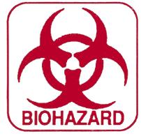 """Biohazard Labels, Red on White, 1.5"""" x 1.5"""" (BIO100)"""