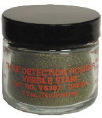 VISIBLE STAIN DET. POWDERS, GREEN natural color (VS307)