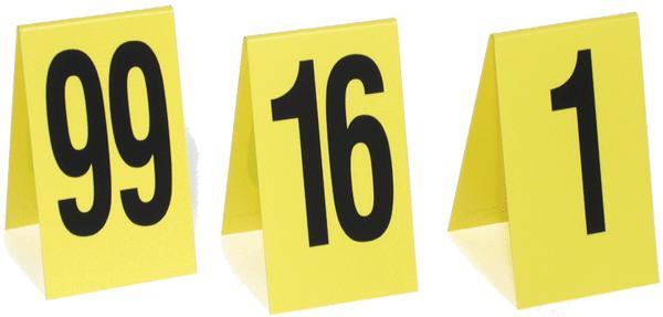 "Short Plastic Numbers 1-15, 2.625"" tall (PEN15VS)"