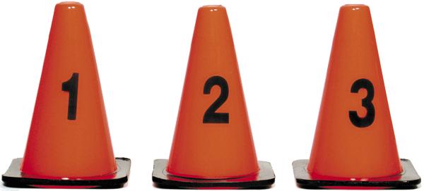 """9"""" Numbered Locator Cones 9-16, 8 pcs. (CSTC916V)"""