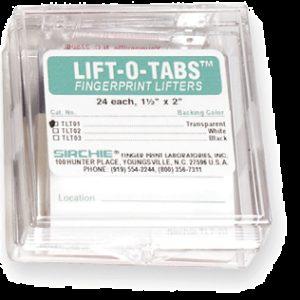 "LIFT-O-TABS for SINGLE FINGERPRINTS 1.5""x 2"" Transparent (TLT02)"