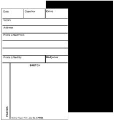 BACKING/SKETCH/RECORD CARDS, Gloss Black Back, 500 ea. (LPB1005)