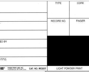 "BACKING/RECORD COMBO 3"" x 5"" Black contrast, 500 ea. (FC337)"