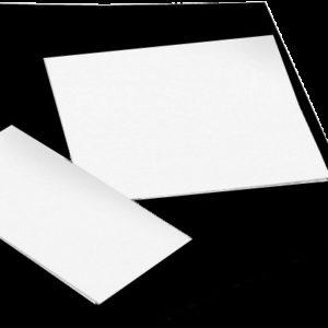 """RIGID PLASTIC BACKING SHEETS 2"""" x 4"""" White Vinyl, 30 ea. (LB201)"""