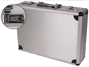 "ALUMINUM ATTACHE CASES, 17.75"" x 13"" x 6"" (KCP1007F)"