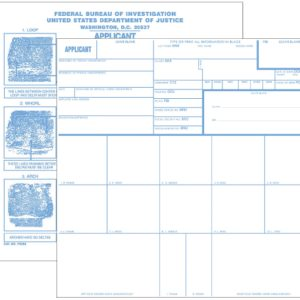 Applicant Record Cards, No Imprint, 100 ea. (FD258)