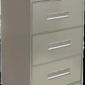BUREAU CARD FILE CABINETS with LOCK, Gray Finish (MSC100GL)