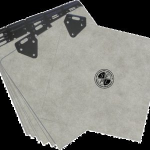 Blank Metal Tab Guide Cards, 100 ea. (FG228)